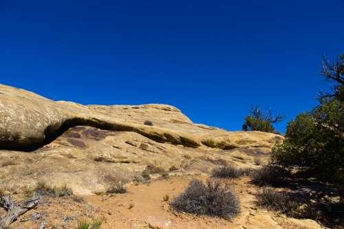 Slick Rock Sandstone Trail Canyonlands National Park