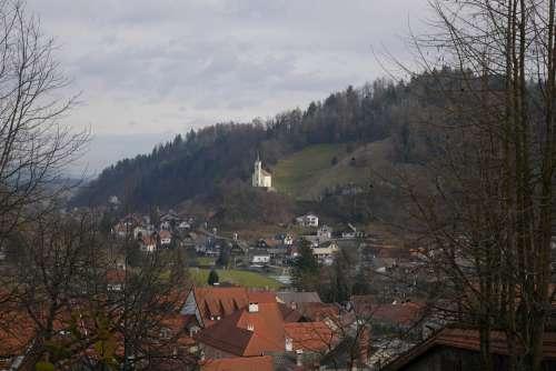 Slovenia Škofja Loka Church Landscape