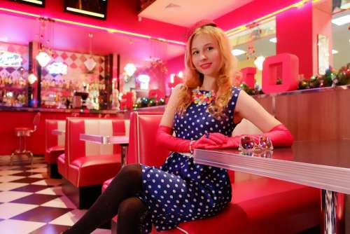 Smile Polka Dot Dress Fashion 40S Fashion 50S Woman