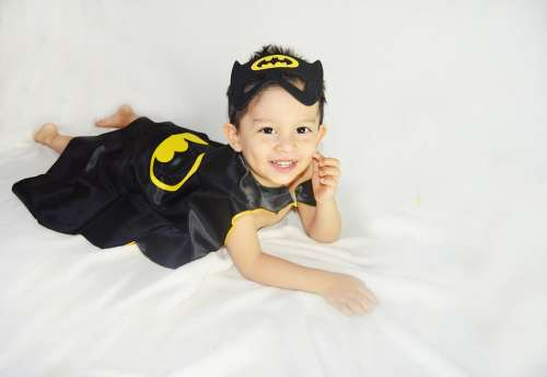 Smile Kid Child Baby Young Happy Batman Costume
