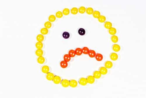 Smiley Yellow Sad Sadness Cry Depressed Emotion