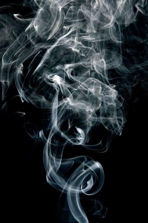 Smoke Fumes Black White Curve Cigarette Smoke
