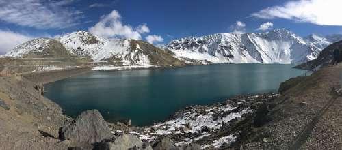 Snow Chile Cold Landscape Nature Mountain