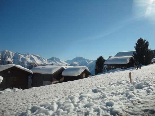Snow Switzerland White Station Winter Christmas