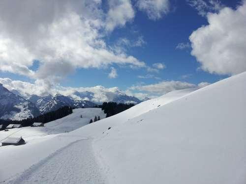 Snow Landscape White Mountain Landscape