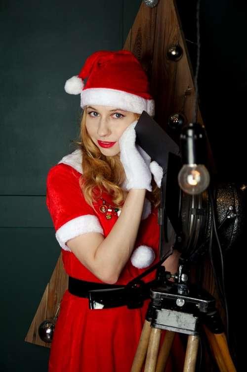 Snow Maiden New Year'S Eve Studio Christmas Tree