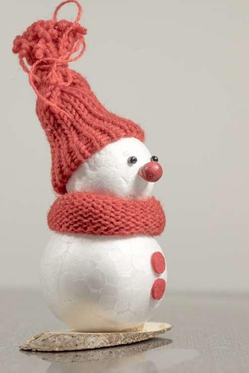 Snowman Winter Cap Cold Mood Postcard