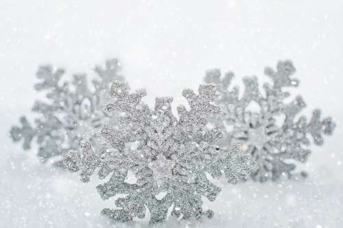 Snowflakes Background Border White Space Text Space