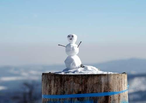 Snowman Little Snowman Winter Snow Fun Ferie