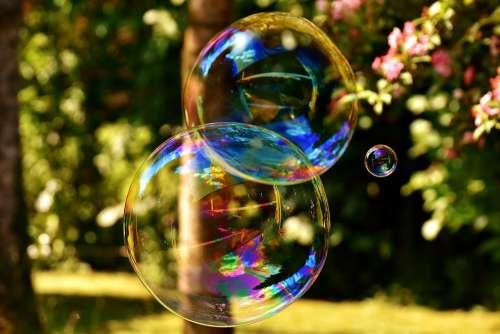 Soap Bubble Huge Large Make Soap Bubbles Wabbelig