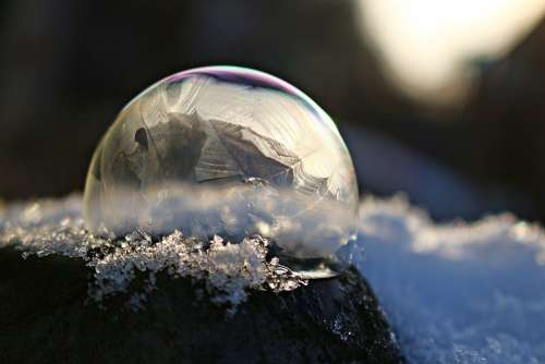 Soap Bubble Frozen Bubble Frozen Ice Ice Ball