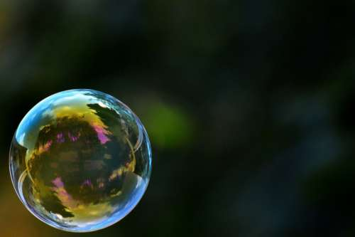 Soap Bubble Colorful Ball Soapy Water