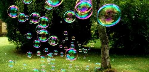 Soap Bubbles Colorful Flying Make Soap Bubbles