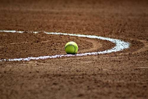 Softball Baseball Ball Sport Game Laces Field