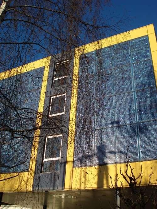 Solar Panels Facade Architecture Lausanne