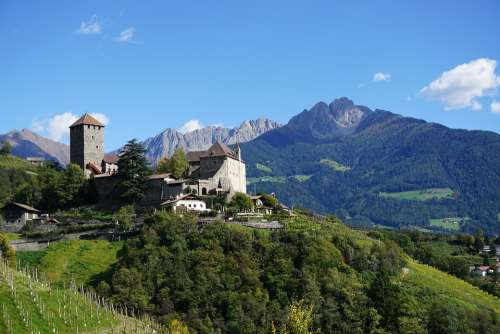South Tyrol Castle Tyrol Mountains Nature Castle