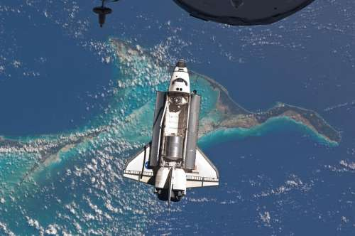 Space Shuttle Atlantis Docking Space Station Iss