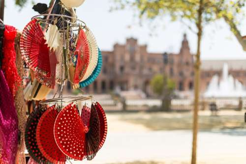 Spanish Souvenir Spain National Culture Fans