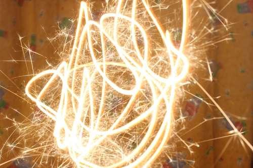 Sparkler Lighting Dark Christmas