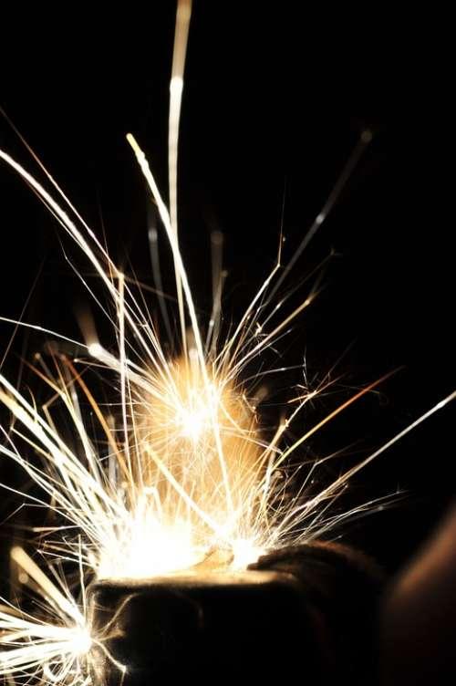 Sparks Fireworks Welding Industrial Heat Metal