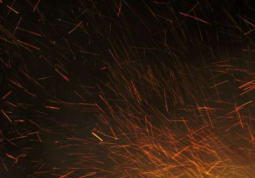 Sparks Fire Hot Red Night