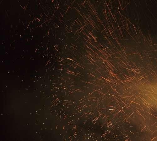 Sparks Fire Hot Danger Heat Red Black