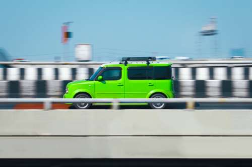 Speed Car Green Road Speed Transportation Vehicle