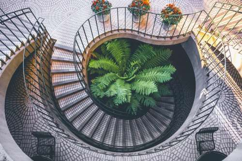Spiral Staircase Architecture Interior Stairway