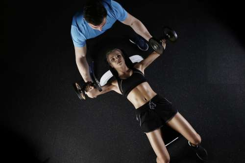 Sport Strength Training Woman Personal Trainer