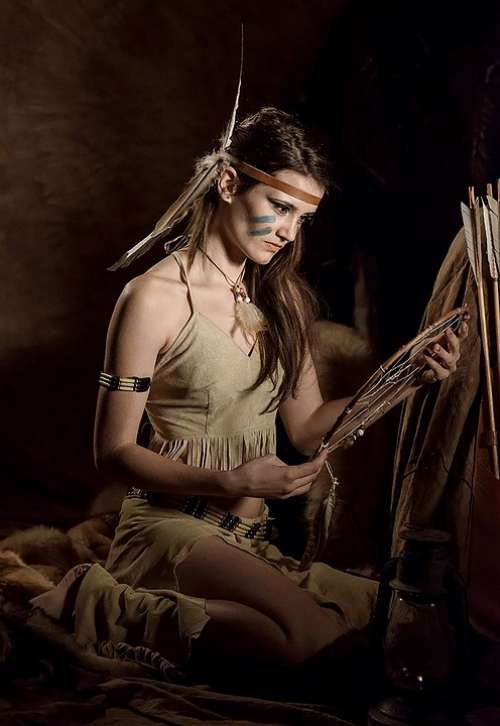 Squaw American Indian Native American Girl Woman