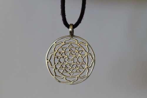 Sri Yantra Lucky Charm Necklace