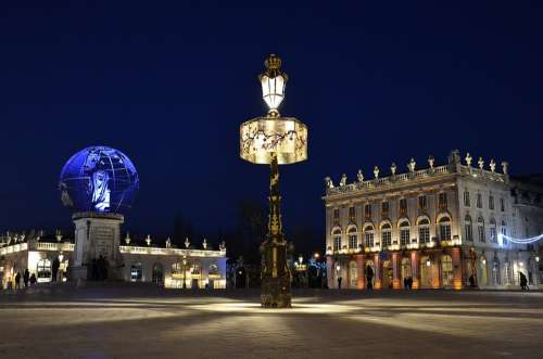 St Nicholas Best Wishes Nancy Place Stanislas Blue