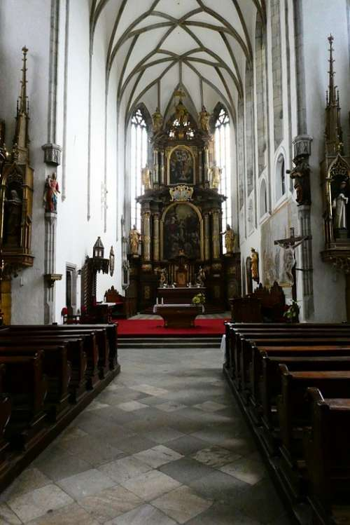 St Vitus Church Krumlov Czech Republic Church Altar