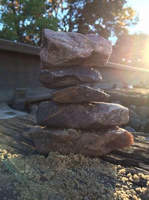Stacking Stones Rocks Relaxation Balance Stone