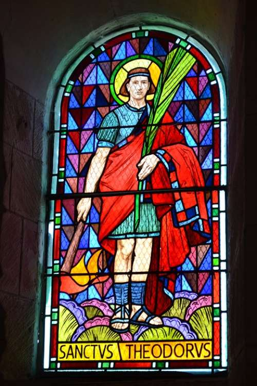 Stained Glass Man Church Color Religion Portrait