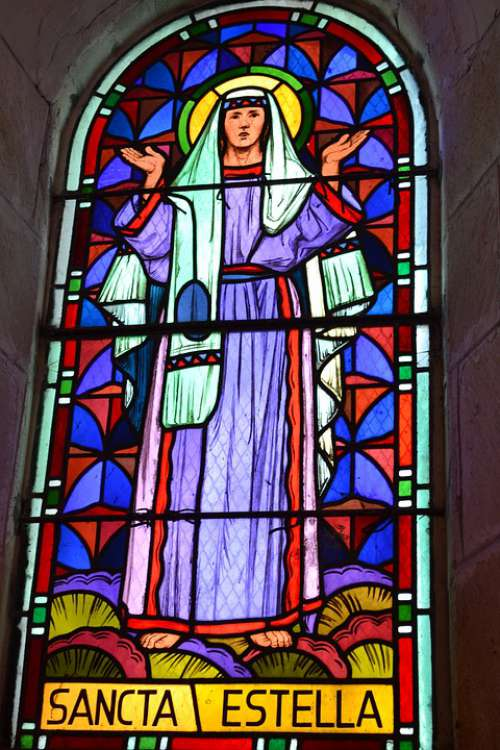 Stained Glass Woman Estelle Light Colorful