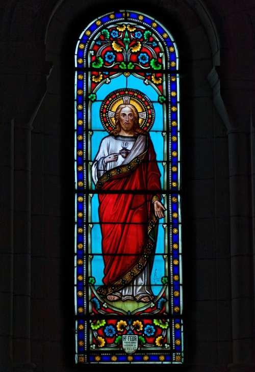 Stained Glass Religion Faith Christ Church