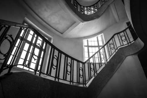 Staircase Old Stairs Building Architecture Railing