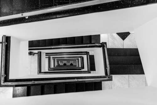 Staircase Bauhaus Architecture White Empty Within
