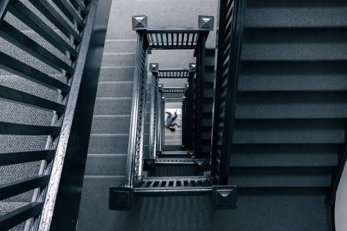 Staircase Body Corpse Fall Accident Dead Hurt