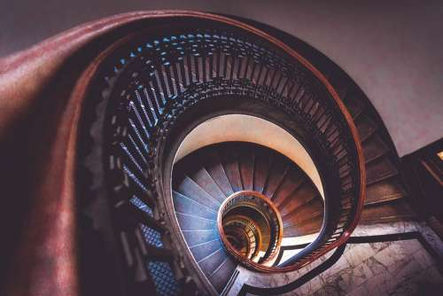 Stairs Spiral Staircase Stairwell Stairway Coil