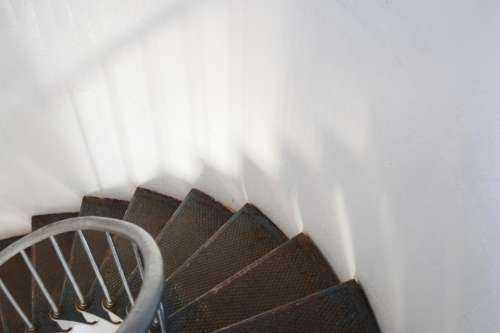 Stairs Lighthouse Staircase Spiral Metal Railing