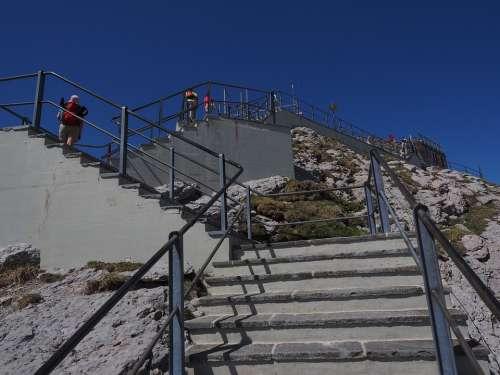 Stairs Rise Gradually Staircase Säntis