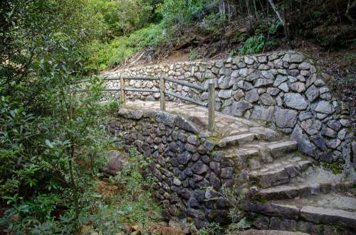 Stairway Stairs Steps Staircase Stone Path