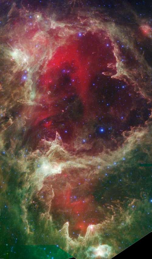 Star Forming Region Of Space W5 Infrared Portrait