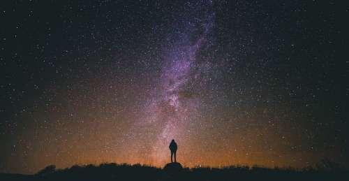Starry Night Starry Sky Silhouette Night Sky