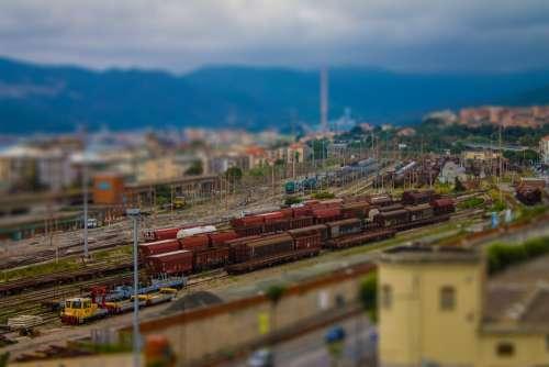 Station Miniature Freight Yard Savona