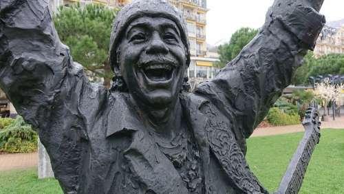 Statue Santana Musician Jazz Festival Montreux