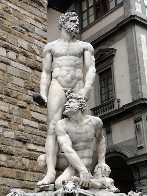 Statue Florence Italy Sculpture Tuscany