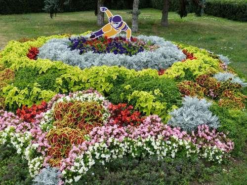 Statue Park Garden Flowers Image Sport